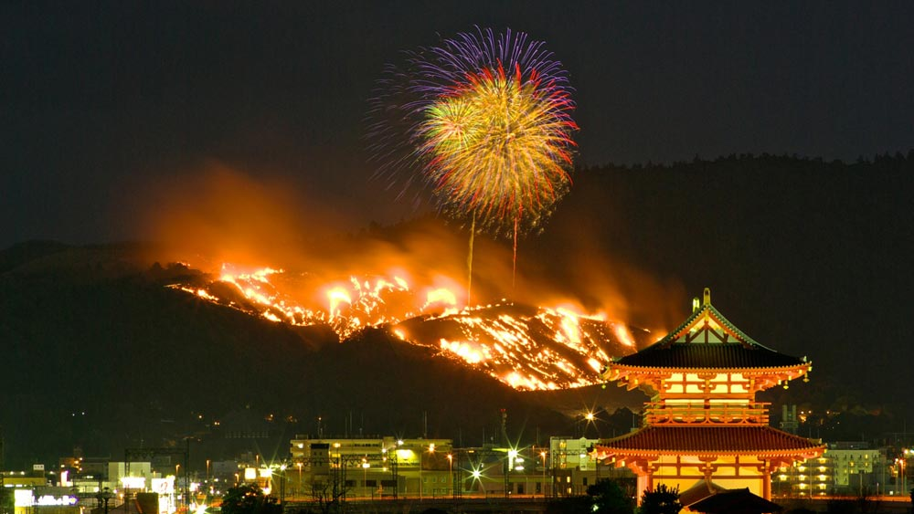 Wakakusa Yamayaki: The Mountain Burning Festival - Nara, Japan