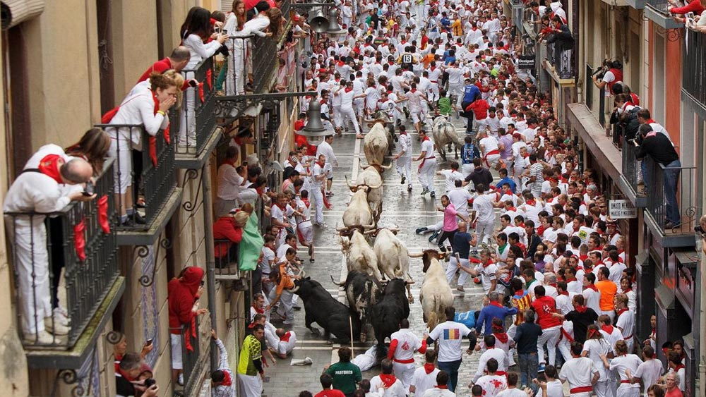 Fiesta de San Fermin in Pamplona, Spain