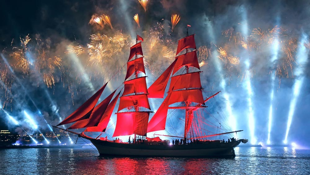 Scarlet Sails in St. Petersburg, Russia