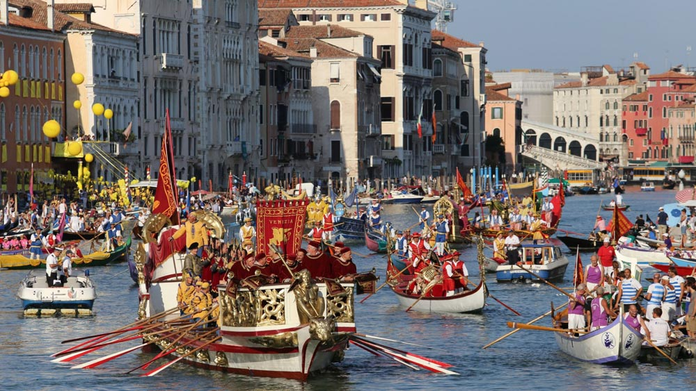 Regata Storica race in Venice, Italy